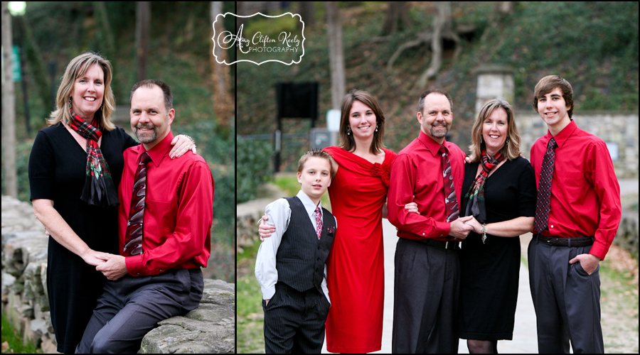 Falls Park Downtown Greenville SC Christmas Family Portraits 50th Anniversary Amy Clifton Keely Photography 17
