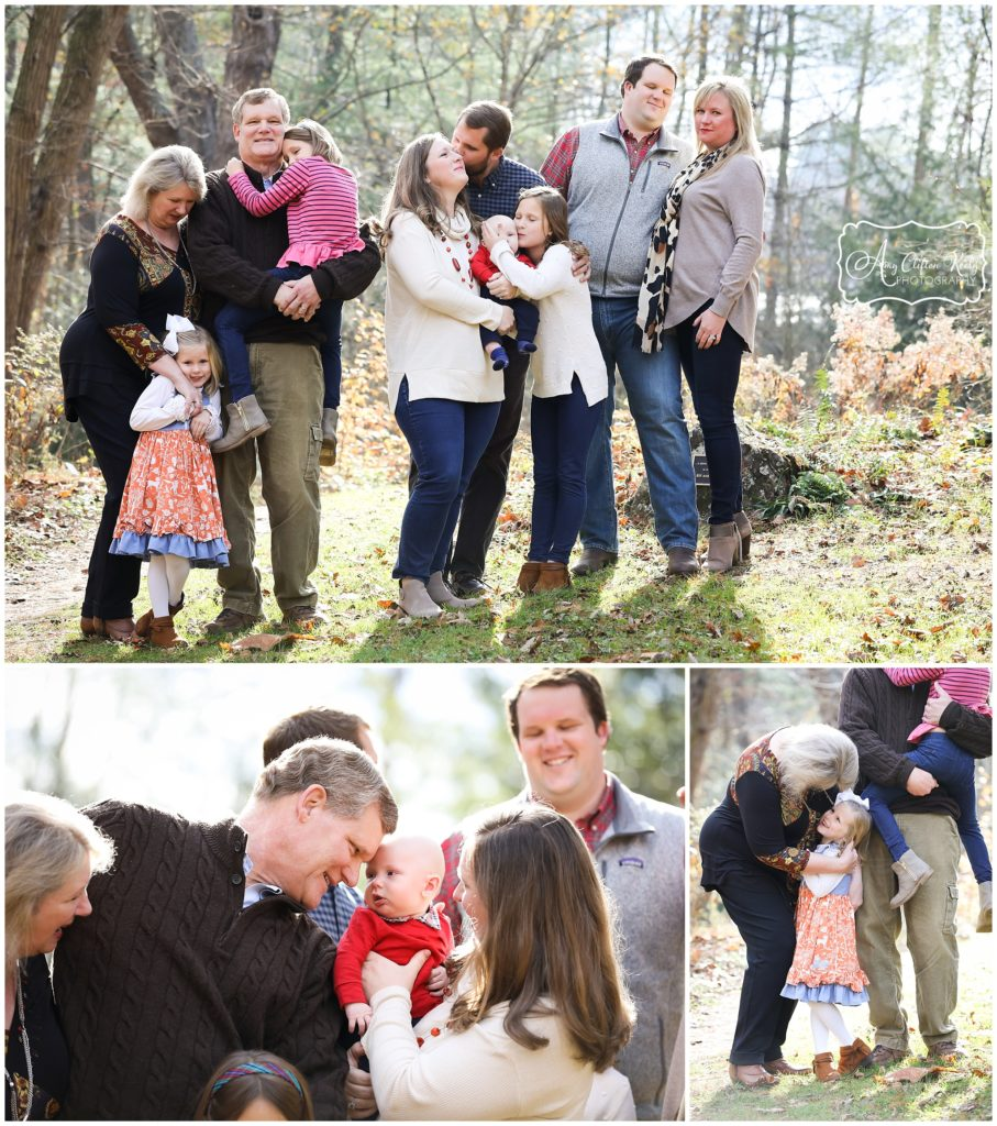 Fall Family Generations Portraits in Asheville NC Botanical Gardens